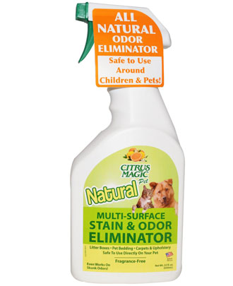 Citrus Magic Natural Multi-Surface Fragrance Free Stain & Odor Eliminator 650ml - Kohepets