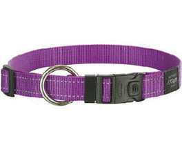 Rogz Utility Purple Dog Collar - Xl