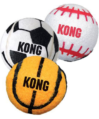Kong 3-Pack Sport Balls Dog Toy Small