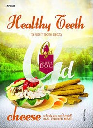 3 FOR $10: Greedy Dog Healthy Teeth Cheese Dog Treat 80g