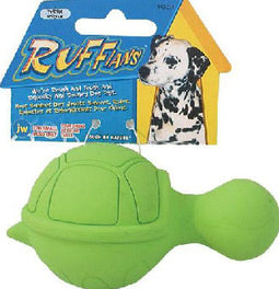 JW Ruffians Turtle Rubber Dog Toy Small