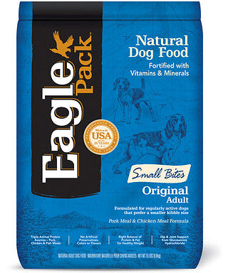 Eagle Pack Small Bites Original Pork Meal & Chicken Meal Adult Dry Dog Food - Kohepets
