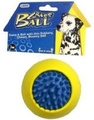JW Pet Grass Ball Rubber Dog Toy Large