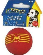 JW Pet Isqueak Ball Rubber Dog Toy Small