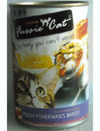 Fussie Cat Fresh Fisherman's Basket Canned Cat Food 400g