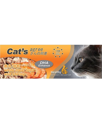 Cat's Agree White Meat Tuna & Shrimp Canned Cat Food 80g