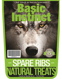 Basic Instinct Spare Ribs Natural Dog Treats 500g