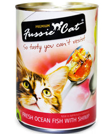 Fussie Cat Fresh Ocean Fish With Shrimp Canned Cat Food 400g