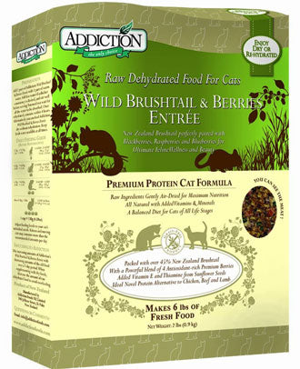Addiction Wild Brushtail & Berries Grain Free Raw Dehydrated Cat Food 2lb