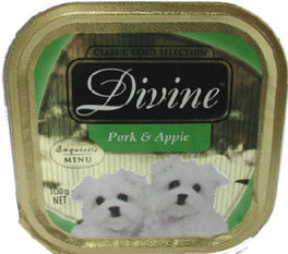 Divine Classic Gold Selection Pork & Apple Tray Dog Food 100g