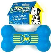 JW Isqueak Bone Rubber Dog Toy Medium