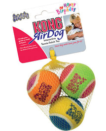 Kong Air Dog Squeaker Birthday Ball 3 Balls Medium