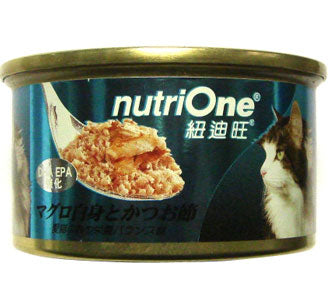 Nutri One Tuna With Katsuobushi Canned Cat Food 85g