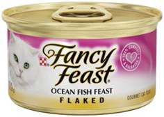 FREE TREATS W/ EVERY 24 CANS: Fancy Feast Flaked Ocean Fish Feast Canned Cat Food 85g