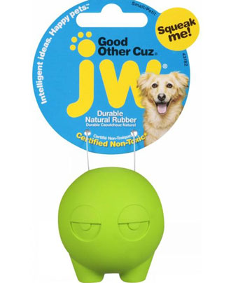 JW Other Cuz Good Rubber Dog Toy Small