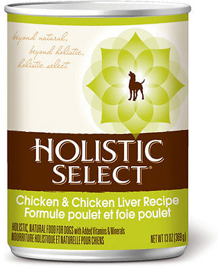Holistic Select Chicken & Chicken Liver Canned Dog Food 368g - Kohepets