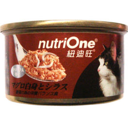 Nutri One Tuna With Shirasu Canned Cat Food 85g