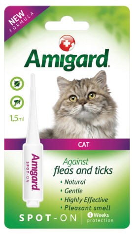 Amigard Natural & Non-Toxic Flea & Ticks Spot On For Cats