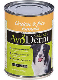 Avoderm Natural Chicken And Rice Canned Dog Food 368g