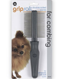 JW Gripsoft Double Sided Comb For Dog