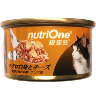 Nutri One Tuna With Cheese Canned Cat Food 85g