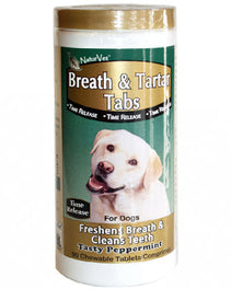 NaturVet 4 in 1 Pleasant Breath Plus Stops Stool Eating Supplement 150 tab