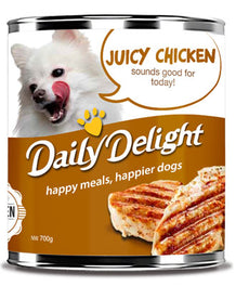 Daily Delight Juicy Chicken Canned Dog Food 700g