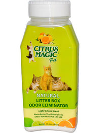 Citrus Magic Litter Box Deodoriser Powder - Light Citrus Scent 317g