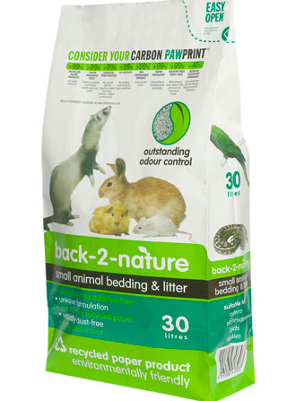Back-2-Nature Small Animal Paper Bedding & Litter 30L