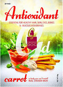 3 FOR $10: Greedy Dog Antioxidant Carrot Dog Treat 80g