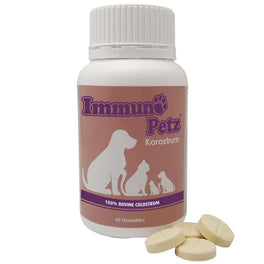 Immuno-Petz Korostrum Bovine Colostrum Pet Supplements 60 Tabs