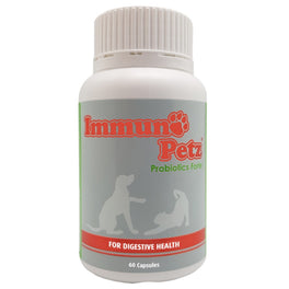 Immuno-Petz Probiotics Forte Digestive Pet Supplements 60 Caps