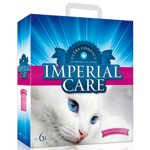 Imperial Care Premium Clumping Cat Litter - Baby Powder 6L