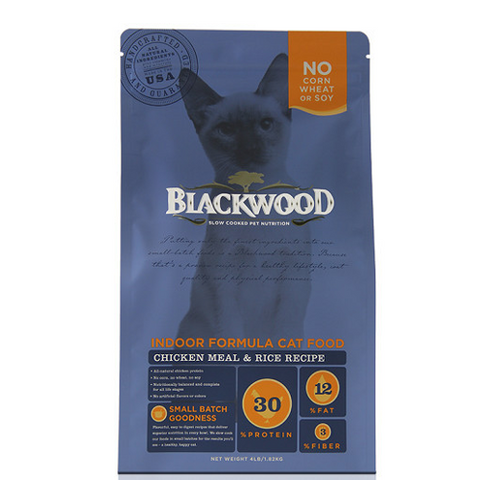 10% OFF 4lb (Exp 16 May): Blackwood Indoor Formula Chicken Meal & Rice Dry Cat Food - Kohepets