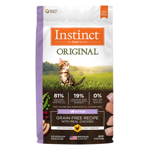 Instinct Original Grain-Free Recipe with Real Chicken Dry Kitten Food 4.5lb - Kohepets