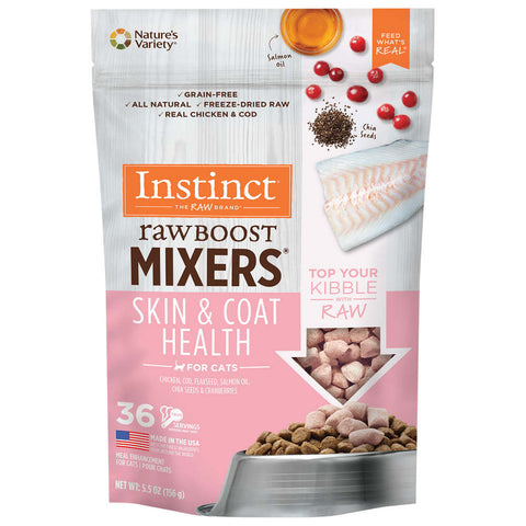 Instinct Raw Boost Mixers Skin & Coat Health Freeze-Dried Raw Cat Food Topper - Kohepets