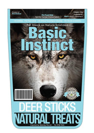 Basic Instinct Deer Stick Dog Treat 150g