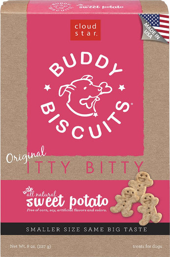 Cloud Star Itty Bitty Buddy Biscuits, Sweet Potato Dog Treats 227g