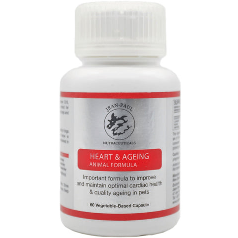 'BUY 2 GET 1 FREE': Jean-Paul Nutraceuticals Heart & Aging Animal Formula Supplement for Cats & Dogs 60ct
