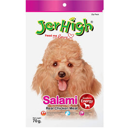 BUY 2 GET 1 FREE: Jerhigh Salami Soft Dog Treat 70g