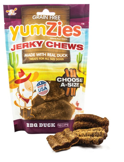 Nootie Yumzies Grain Free Duck Jerky Chews BBQ Flavor Dog Treats - Kohepets