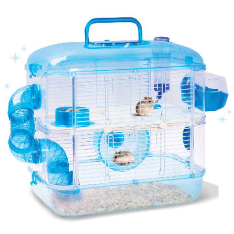 Jolly Pet Crystal Castle Double Deck Hamster Cage - Kohepets