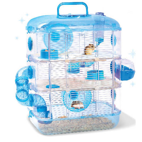 Jolly Pet Crystal Castle Triple Deck Hamster Cage - Kohepets