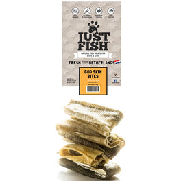 Just Fish Cod Skin Bites Dog & Cat Treats 100g