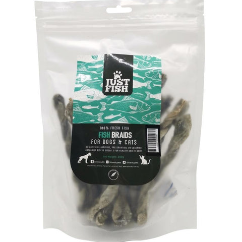 3 FOR $24: Just Fish Natural Fish Braids Dog & Cat Treats 200g (5 TO 18 OCT) - Kohepets