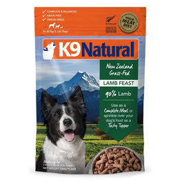 'FREE TREATS': K9 Natural Freeze Dried Lamb Feast Raw Dog Food
