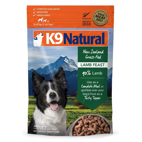 K9 Natural Freeze Dried Lamb Feast Raw Dog Food