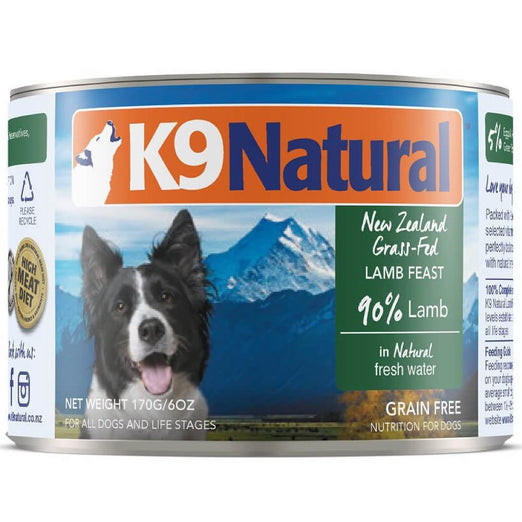 K9 Natural Lamb Feast Canned Dog Food 170g
