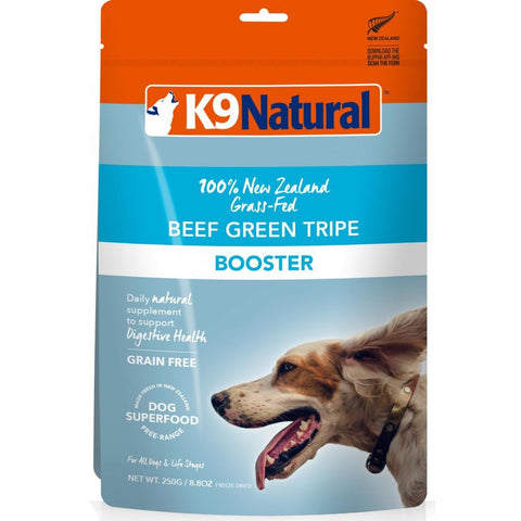 3 FOR $99: K9 Natural Freeze Dried Beef Tripe Booster Dog Food 250g