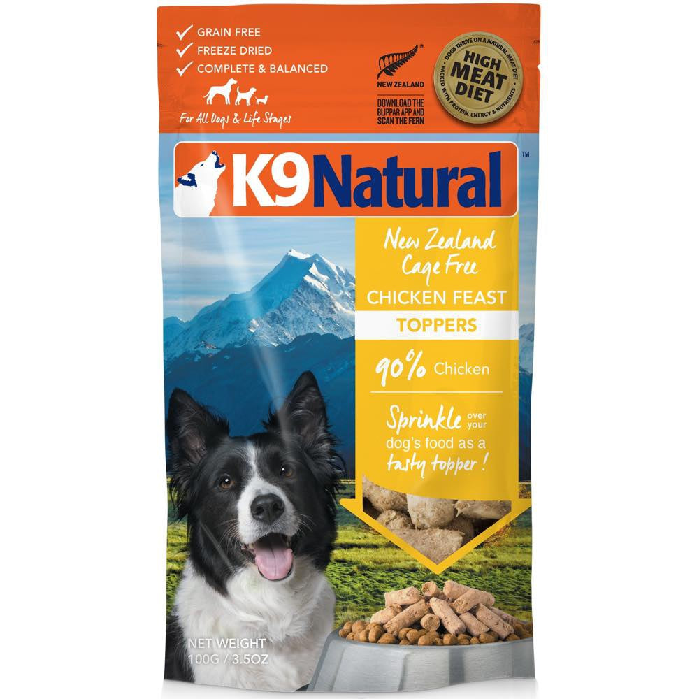 K9 Natural Freeze Dried Chicken Feast Dog Food Topper 3 5oz